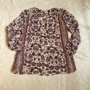 Lucky brand floral plus size peasant top